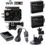 SJCAM SJ4000 Wifi Sports Helmet Camera DVR+Free Battery+Home/Car Charger+Bracket