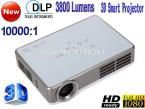 New 3D HD 1080P DLP Full HD 1280 * 800 projector 3800 lumens projector