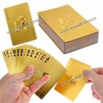 Popular 24K Gold Foil Poker Playing Cards Deck Carta de Baralho for Games Entertainment
