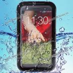 Fashion Airtight Tough Protective Waterproof Silicone with Plastic Cover Case for LG G2 D800 D801 D803 (BLACK)