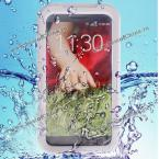 Fashion Airtight Tough Protective Waterproof Silicone with Plastic Cover Case for LG G2 D800 D801 D803 (WHITE)