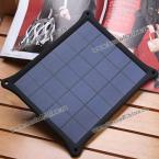 5V 1.0A Solar Power Charger 5.0W Solar Panel Leather Case Frame for Samsung LG MOTO Nokia Sony HTC Smartphones (BLACK)
