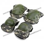 4 Pcs Pro Hunting Outdoor Tactical Military Airsoft Sport Paintball Knee and Elbow Protective Pads (CP CAMOUFLAGE)