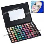 88P04 Multifunction Rectangle Box Makeup 88 Colors Eye Shadows Palette with Mirror and Two Applicators Inside