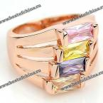 Chic Women's Colored Rhinestone Layered Ring (AS THE PICTURE,ONE SIZE(FIT SIZE XS TO M))