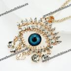 Fashionable Women's Eye Shape Embellished Pendant Necklace (AS THE PICTURE)