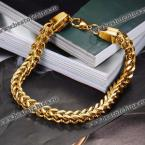 Fashion Retro Solid Color Link Chain Bracelet For Men (GOLDEN)