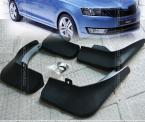 4PCS/SET FIT FOR 2012 2013 2014 SKODA RAPID MOLDED MUD FLAP FLAPS SPLASH GUARD MUDGUARD
