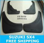 4PCS/SET FIT FOR 2006~2009 SUZUKI SX4 HATCH MUD FLAP SPLASH GUARD MUDGUARDS CROSSOVER