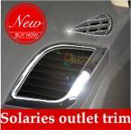 Декоративные накладки на воздуховоды для Hyundai Solaris Verna.