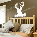 Beautiful Vivid Elk Wall Sticker Art Decals Mural Room Wallpaper (WHITE)