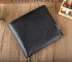 The first layer Genuine Cow leather men's wallet short brand wallet purse, business gifts, YW-D2020