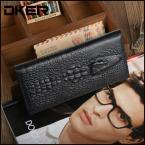 New Fashion Crocodile Design Male Cowhide Long Wallet Genuine Leather Casual Men Wallets Purse, YW-D2014-3