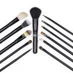 Professional 12 pcs Makeup Brush kits tools Make up Toiletry Kit Wool Brand Cosmetics Brush Set with beige Environmental Case