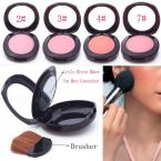 Soft Pressed Natural Face Blush Powder Blusher Palette Makeup with Mirror Brush  #61696