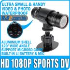 DVR Mini Action Helmet Car Camcorder Video Waterproof Cam HD 1080p DV Sports Camera
