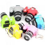 M86115 Creative Fashion Colorful Kaca  Sound LED Light  Flash SLR Camera Model Keychain Keyring Key Chain Ring Keyfob