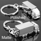 M82533 Silver Container Truck Keychain Key Chains Ring Keyfob Key Holder Chain Keyring Keyrings
