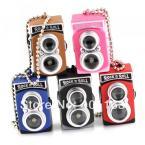 M86114 Creative Fashion Colorful Kaca Flash LED Light Dual Lens Camera Model Keychain Keyring Key Chain Ring Keyfob