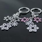 Creative Fashion Romantic Snowflake Key Chain Ring Keychain Keyfob Keyring Key Holder