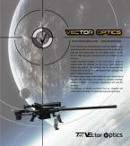Vector Optics компактный тактический светодиодный фонарик с креплением, 180 люмен.