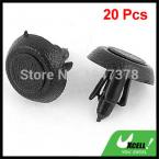 20 Pcs/lot 5mm Hole Black Plastic Rivet Retainer Door Trim Clips Fastener