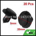20 pcs/lot Black Plastic Rivet Car Door Trim Panel Retainer Clip 5mm Hole