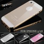Металлическая рамка и защитная стеклянная плёнка для iPhone 5/5S.
