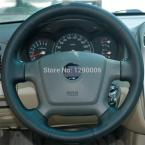 Black Leather Steering Wheel Cover for Kia Cerato 2005-2012