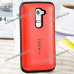 iFace mall Stylish Plastic and TPU Protective Case for LG G2 (RED)