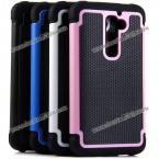 Exquisite Silicone and PC Material Football Texture Protective Case Cover for LG Optimus G2 (PINK)