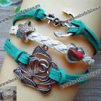 Trendy Women's Rose Shape Multi-Layered Friendship Bracelet (AS THE PICTURE)