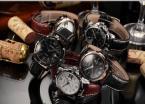 AGENTX AGX011 мужские кварцевые часы с круглым циферблатом, календариком и ремешком из натуральной кожи.