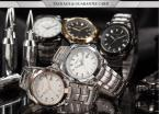 AGENTX AGX074 мужские водонепроницаемые часы с большим розово-золотистым циферблатом, календариком и ремешком из нержавеющей стали.