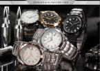 AGENTX AGX075 мужские водонепроницаемые часы с японским механизмом, круглым циферблатом, календариком и ремешком из нержавеющей стали.