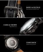 AGENTX AGX121 мужские водонепроницаемые часы с круглым циферблатом, календариком и кожаным ремешком.
