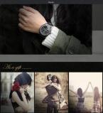 Taylor Cole TC012 женские водонепроницаемые часы с круглым циферблатом, кристаллами, календариком и ремешком из нержавеющей стали. (Цвет - чёрный)