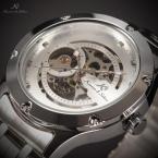 KS206 водонепроницаемые мужские часы с оригинальным циферблатом и ремешком из нержавеющей стали.