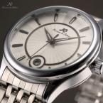 KS259 водонепроницаемые мужские часы с круглым циферблатом, календариком и ремешком из нержавеющей стали.