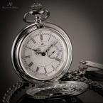 KSP051 карманные мужские часы с японским механизмом, круглым циферблатом и римскими цифрами, указывающими время.