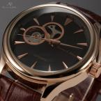 KS299 мужские водонепроницаемые часы с круглым циферблатом и кожаным ремешком.