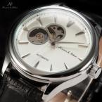 KS297 мужские водонепроницаемые часы с круглым циферблатом и кожаным ремешком.