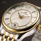 KS260 мужские водонепроницаемые часы с круглым циферблатом, календариком и ремешком из нержавеющей стали.