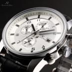 KS178 мужские водонепроницаемые часы с круглым циферблатом, календариком и кожаным ремешком.