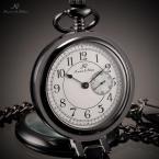 KSP061 мужские карманные часы с японским механизмом, круглым циферблатом и арабскими цифрами, указывающими время.