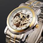 KS040 мужские водонепроницаемые часы с круглым циферблатом и ремешком из нержавеющей стали.