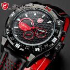 SHARK SH080 мужские водонепроницаемые часы с оригинальным циферблатом и ремешком из натуральной кожи.