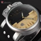Shark SH170 мужские кварцевые часы с оригинальным циферблатом, подсветкой и силиконовым ремешком.