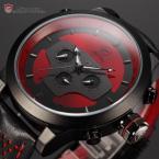 Shark SH207 мужские водонепроницаемые мульти-функциональные часы с оригинальным циферблатом, календариком и кожаным ремешком.