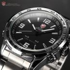 SHARK SH005 мужские водонепроницаемые часы с цифровым светодиодным дисплеем, будильником и ремешком из нержавеющей стали.
